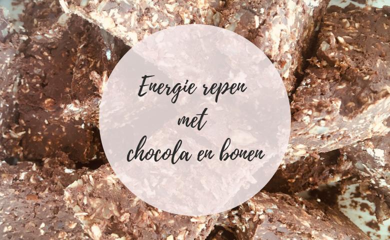 energie repen met chocola en bonen